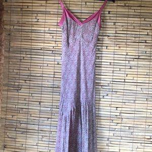 SZ2 ANE KLEIN SILK FLORAL DRESS